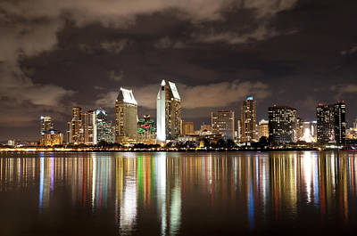 Poster featuring the photograph San Diego Skyline 1 by Lee Kirchhevel