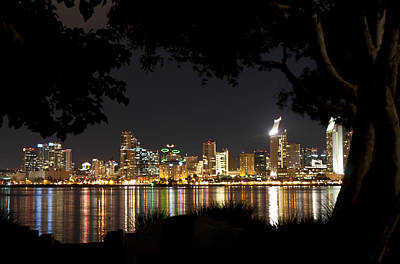 Poster featuring the photograph San Diego Skyline Framed 1 by Lee Kirchhevel