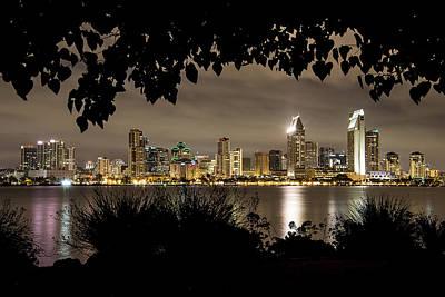 San Diego Skyline Framed 2 Poster by Lee Kirchhevel