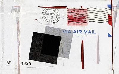 San Francisco 1952 Air Mail Poster by Carol Leigh