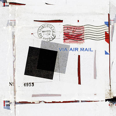 San Francisco 1952 Air Mail Square Poster by Carol Leigh