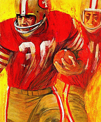 San Francisco 49ers 1966 Vintage Print Poster by Big 88 Artworks