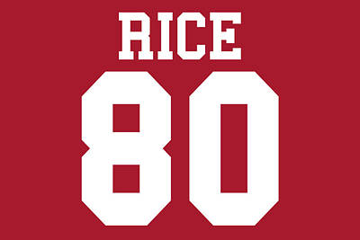 San Francisco 49ers Jerry Rice Poster by Joe Hamilton