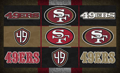San Francisco 49ers Uniform Patches Poster by Joe Hamilton