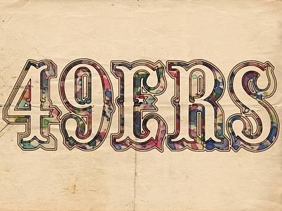 San Francisco 49ers Vintage Logo Poster by Florian Rodarte