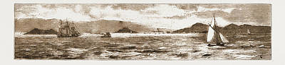 San Francisco Bay, From The Golden Gate, 1883 Poster by Litz Collection