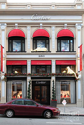 San Francisco Cartier Storefront - 5d20567 Poster by Wingsdomain Art and Photography