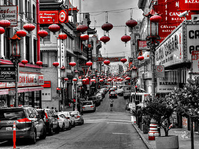 San Francisco - Chinatown 014 Poster by Lance Vaughn