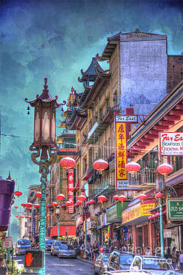 San Francisco Chinatown Poster by Juli Scalzi
