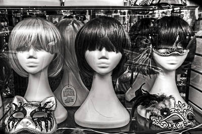 San Francisco Chinatown Window Display Mannequin Heads Poster