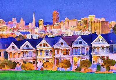 San Francisco City View 1 Poster by Yury Malkov
