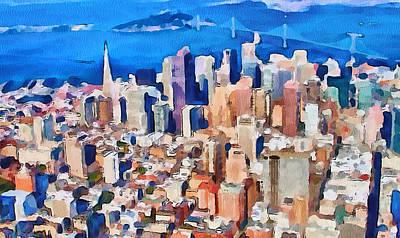 San Francisco City View 2 Poster by Yury Malkov