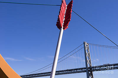 San Francisco Cupids Span Sculpture At Rincon Park On The Embarcadero Dsc1812 Poster by Wingsdomain Art and Photography