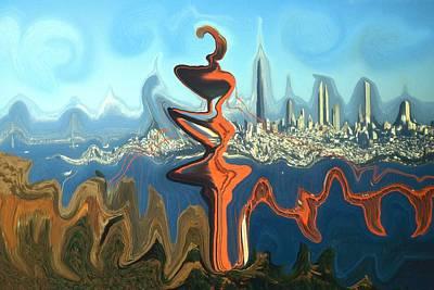 San Francisco Earthquake - Modern Art Poster