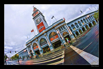 San Francisco Ferry Building Giants Decorations. Poster