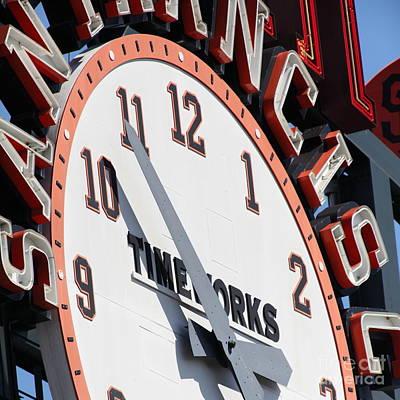 San Francisco Giants Baseball Scoreboard And Clock 5d28234 Square Poster