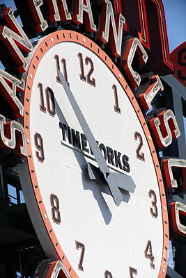 San Francisco Giants Baseball Scoreboard And Clock 5d28234 Poster by Wingsdomain Art and Photography