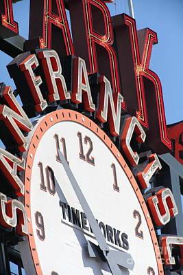 San Francisco Giants Baseball Scoreboard And Clock 5d28235 Poster