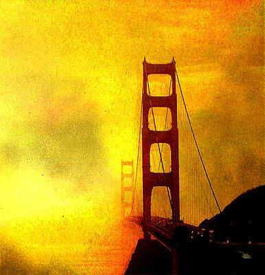San Francisco Golden Gate Bridge Commute In Sun And Fog Poster