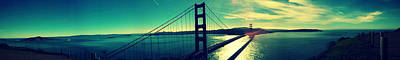San Francisco Golden Gate Bridge Panoramic View Poster by Patricia Awapara