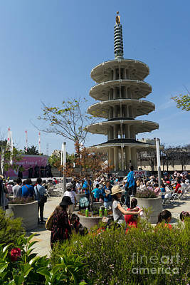 San Francisco Japantown Cherry Blossom Festival Dsc986 Poster by Wingsdomain Art and Photography