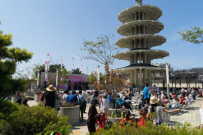 San Francisco Japantown Cherry Blossom Festival Dsc988 Poster by Wingsdomain Art and Photography