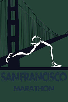 San Francisco Marathon Poster by Joe Hamilton