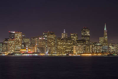San Francisco Nighttime Skyline 1 Poster