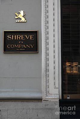 San Francisco Shreve Storefront - 5d20579 Poster