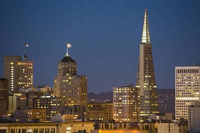 San Francisco Skyline At Dusk Poster by Adam Romanowicz