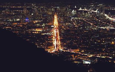 San Francisco Skyline  Poster by Kenny Noddin