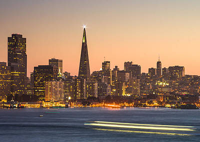 San Francisco Skyline Late Evening Poster