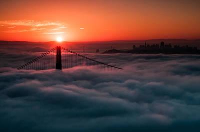 Poster featuring the photograph San Francisco Sunrise by Brian Bonham