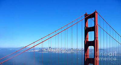 San Francisco - The City With The Golden Gate Poster by Pete Edmunds