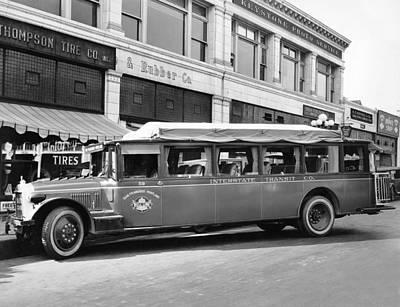 San Francisco To Portland Bus Poster by Keystone Photo Service