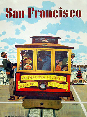 San Francisco Tram Travel Poster