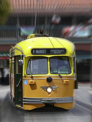 San Francisco Trolley Car Poster by Mike McGlothlen