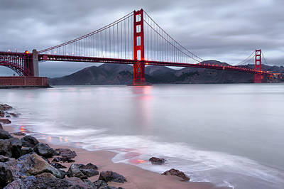 Poster featuring the photograph San Francisco's Golden Gate Bridge by Gregory Ballos