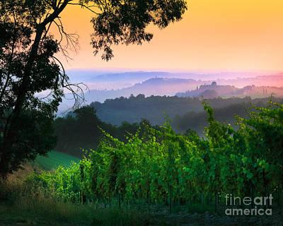 San Gimignano Hills Poster