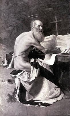 San Girolamo Poster by Giacomo Grosso