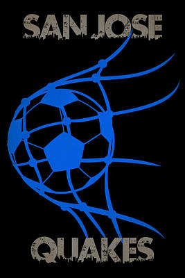 San Jose Quakes Goal Poster by Joe Hamilton