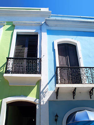 San Juan Balconies Poster by Rod Seel
