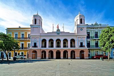 Poster featuring the photograph San Juan City Hall by Ricardo J Ruiz de Porras