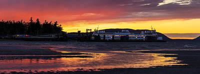 San Juans Ferry Sunset Twilight Poster by Mike Reid