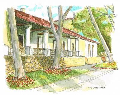 San Luis Obispo Mission - California Poster