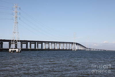 San Mateo Bridge In The California Bay Area 5d21889 Poster by Wingsdomain Art and Photography