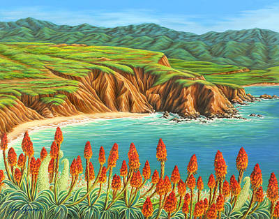 Poster featuring the painting San Mateo Springtime by Jane Girardot
