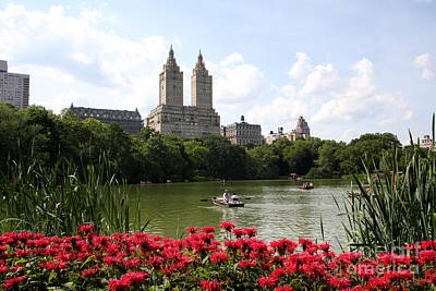 San Remo Towers And The Lake Poster by Christiane Schulze Art And Photography