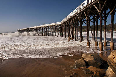 Poster featuring the photograph San Simeon Pier by Lee Kirchhevel