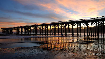 Poster featuring the photograph San Simeon Pier by Vivian Christopher